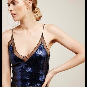 NWT $70 retail FREE PEOPLE party sequins tank top